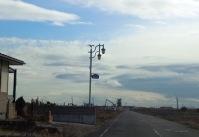 2閖上街灯の風景